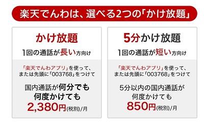 楽天モバイル 5分以上でも何分でも電話かけ放題オプション提供開始 通話料金はいくら安くなる?