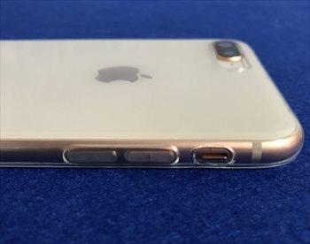 [レビュー]もはやこれはiPhone8専用ケース!ワイヤレス充電対応のLightning接続口キャップ付き激安TPUケース