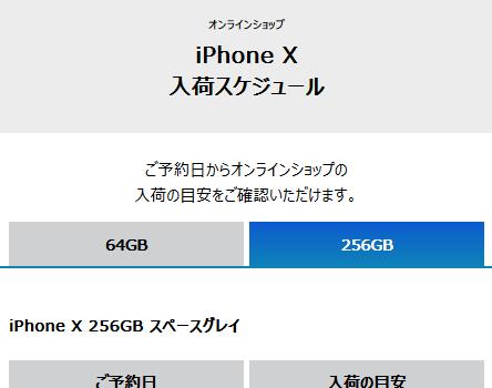 [11/8]ソフトバンク iPhone Xオンライン予約入荷状況を更新 多くは11月中に届く