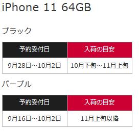 NTTドコモ 2019年モデルiPhone11/Pro/Maxシリーズの入荷予定を公表 在庫に偏り・11月上旬までにほぼ品薄解消の見込み