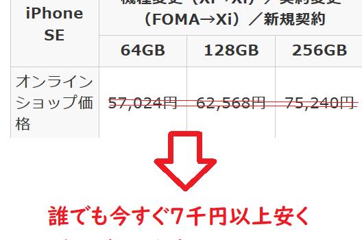 [約8千円安く買うテクニック]ドコモ新規契約iPhone SE2(第2世代)を買うならSIMのみ契約がお得