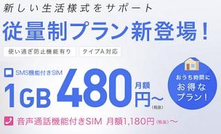 [値引きあり]IIJmio新料金プラン「従量制プラン」月額480円からSMS機能付き とにかく安いau系格安SIM