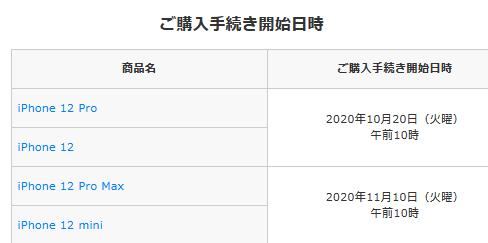 ドコモiPhone12先行購入手続き10月20日10時開始-入荷連絡・在庫状況も